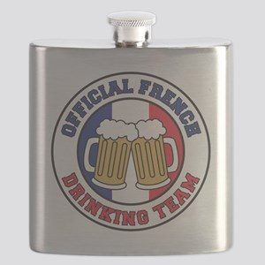 Official French Drinking Team Flask